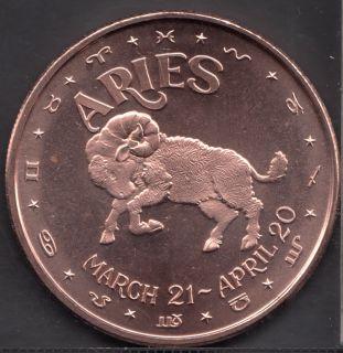 Aries - 1 oz .999 Fine Copper