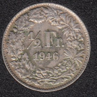 1946 B - 1/2 Franc - Suisse