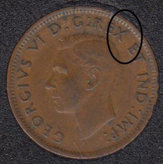 1943 - Break Head to X to Rim - Canada Cent