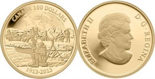 2013 - $100 - 14k Gold Coin - 100th Anniversary of the Canadian Arctic Expedition