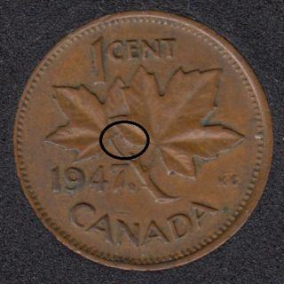 1947 ML - Dot on ML - Canada Cent