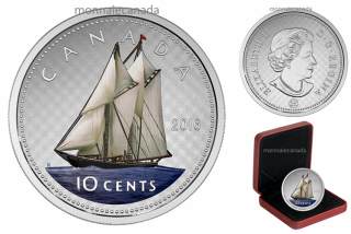 2016 - 10 Cents - 5 oz. Fine Silver Coloured – Big Coin Series: 10-cent Coin