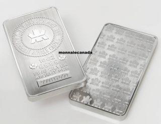 10 oz - Barre en Argent Pur Monnaie Royale Canadienne - DISPONIBLE SUR RENDEZ-VOUS SEULEMENT - sans taxe