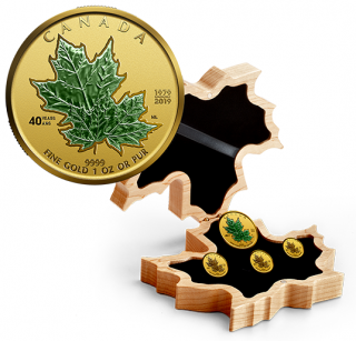 2019 - Pure Gold Fractional Set - 40th Anniversary of the Gold Maple Leaf