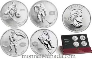 2005 Hockey Legends of The Montreal Canadiens - 50 Cents Sterling Silver