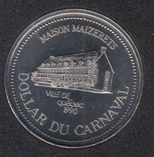 Quebec - 1990 Carnaval de Québec - Pal. 1966 / Maison Maizerets - $2 Dollar de Commerce