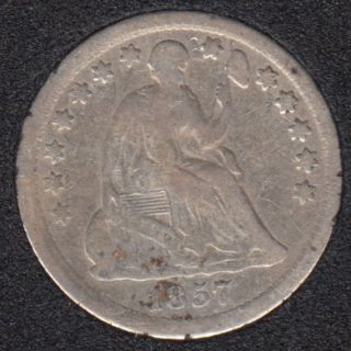 1857 - Liberty Seated - Half Dime