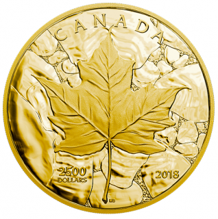 2018 - $2500 - One Kilogram Pure Gold Coin - Sugar Maple Majesty