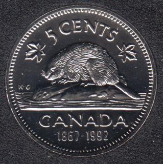 1992 - 1867 - NBU - Canada 5 Cents