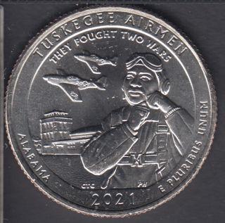 2021 D - B.Unc - Tuskegee Airmen - 25 Cents