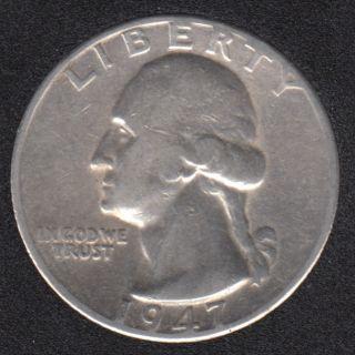 1947 D - Washington - 25 Cents