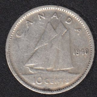 1940 - Canada 10 Cents