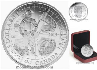 2015 - $3 - Fine Silver Coin - 400th Anniversary of Samuel de Champlain in Huronia