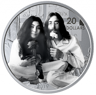 2019 - $20 - 1 oz. Pure Silver Coin - Give Peace a Chance