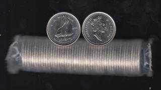 1993 Canada Roll 10 Cents - 50 Coins - UNC