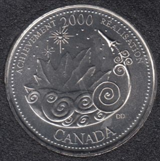 2000 - #3 B.Unc - Achievement - Canada 25 Cents