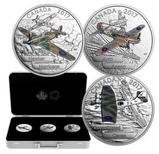 2017 Canada $20 Dollars Fine Silver - Aircraft of the Second World War - 3 Coins Set