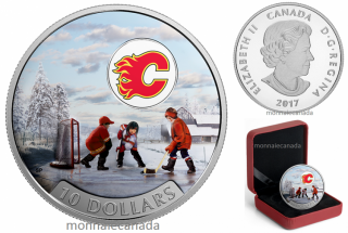 2016 - $10 - 1/2 oz. Pure Silver Coloured Coin – Passion to Play: Calgary Flames®