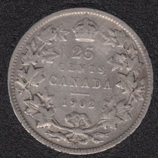 1902 H - Canada 25 Cents