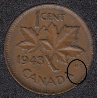 1943 - Break A Attached to KG - Canada Cent