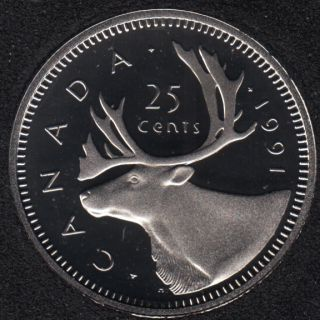 1991 - Proof - Canada 25 Cents