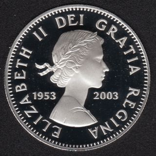 2003 - 1953 - Proof - Couronnement - Argent Fin - Canada Dollar