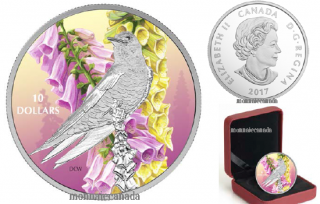 2017 - $10 - 1/2 oz. Pure Silver Coloured - Birds Among Nature's Colours - Purple Martin
