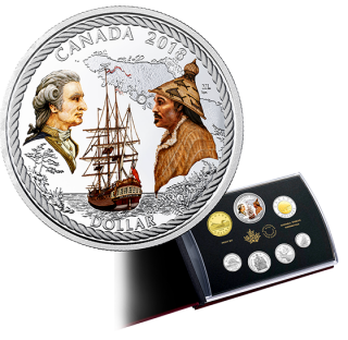 2018 - Special Edition Silver Dollar Proof Set: 240th Anniversary of Captain Cook at Nootka Sound