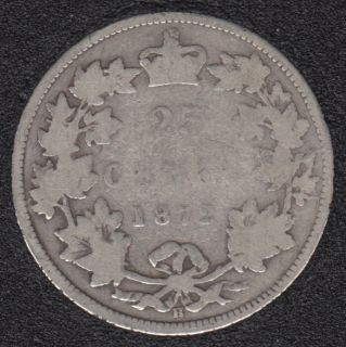 1872 H - Canada 25 Cents