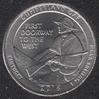 2016 D - Cumberland Gap - 25 Cents