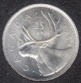 1964 - B.Unc - Canada 25 Cents