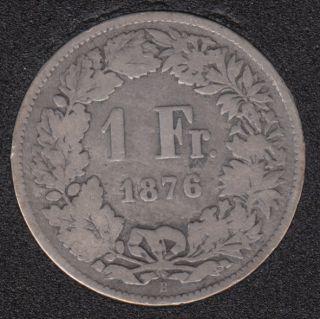 1876 B - 1 Franc - Suisse