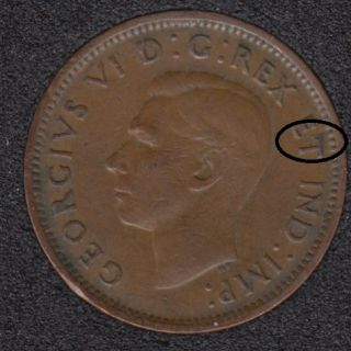 1946 - Break T to Rim - Canada Cent