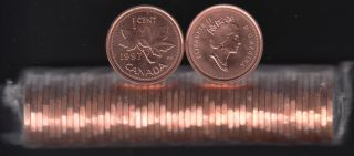 1997 Canada 1 Cent - BU ROLL 50 Coins - UNC