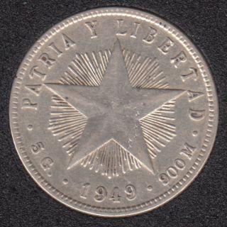 1949 - 20 Centavos - Argent - Cuba