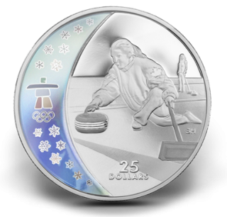 2007 - $25 - Sterling Silver Hologram Coin – Curling