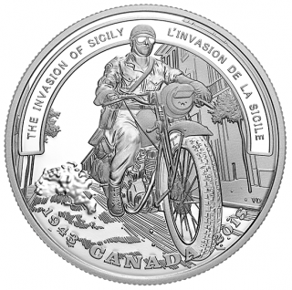 2018 - $20 - 1 oz. Pure Silver Coin - Second World War Battlefront: The Invasion of Sicily