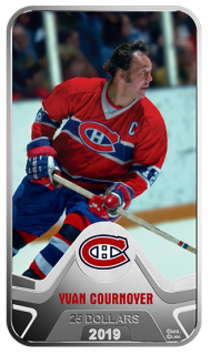 2019 - $25 - Pure Silver Coin - NHL® Original Six™: Montreal Canadiens®: Yvan Cournoyer
