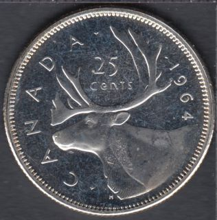 1964 - Proof Like - Canada 25 Cents