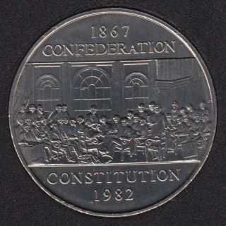 1982 - B.Unc - Constitution - Nickel - Canada Dollar