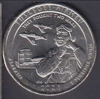 2021 P - B.Unc - Tuskegee Airmen - 25 Cents