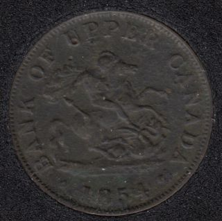 P.C. 1854 Bank of Upper Canada Half Penny PC-5C1