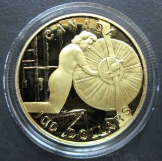 1994 - $100 - 14K Gold Proof Coin - The Home Front