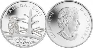 2011 - $10 - Fine Silver Coin - Boreal Forest