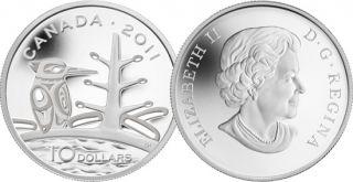 2011 - $10 - Fine Silver Coin - Boreal Forest