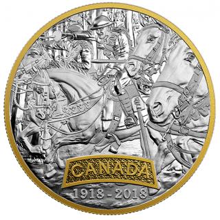 2018 - $20 - 1 oz en argent pur avec placage d'or - Forces alliées de la Première Guerre mondiale