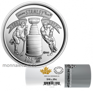 2017 - 25-cent 125th Anniversary of The Stanley Cup® Special Wrap Coin Roll