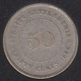 Straits Settlements - 1896 - 50 Cents - Silver