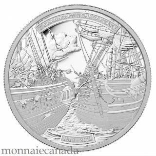 2013 - $50 - 5 oz Fine Silver Coin - HMS Shannon & USS Chesapeake