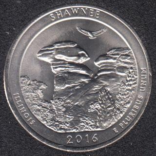 2016 P - Shawnee - 25 cents